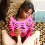 sensual interracial handjob