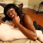 ebony-babe-Avonii-jerking-white-dick