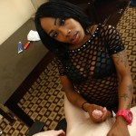 Ebony Hottie Phatcheeks Shows Off Her Amazing Handjob Skills